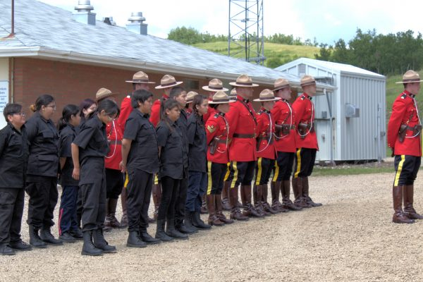 Cadets Standing at attention